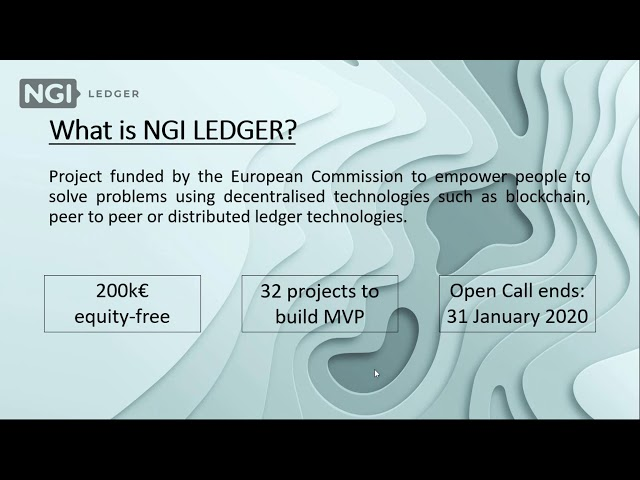 LEDGER Open Call 2 - Webinar Ep. 1: Introducing LEDGER and the Venture Builder