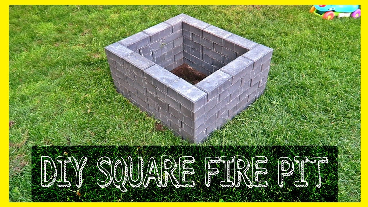 DIY SQUARE FIRE PIT - YouTube