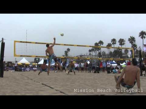 2013 AVP Manhattan Beach Open Olson and Morrison vs. Fuerbringer and Jennings Game 2