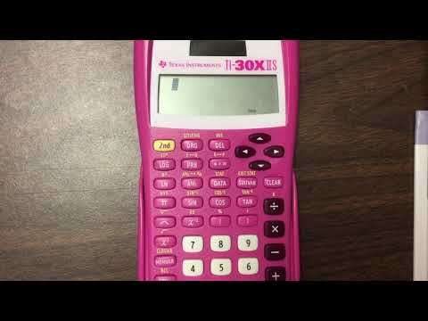 How To Find Mean And Standard Deviation On The TI-30X IIS TI-30XIIS