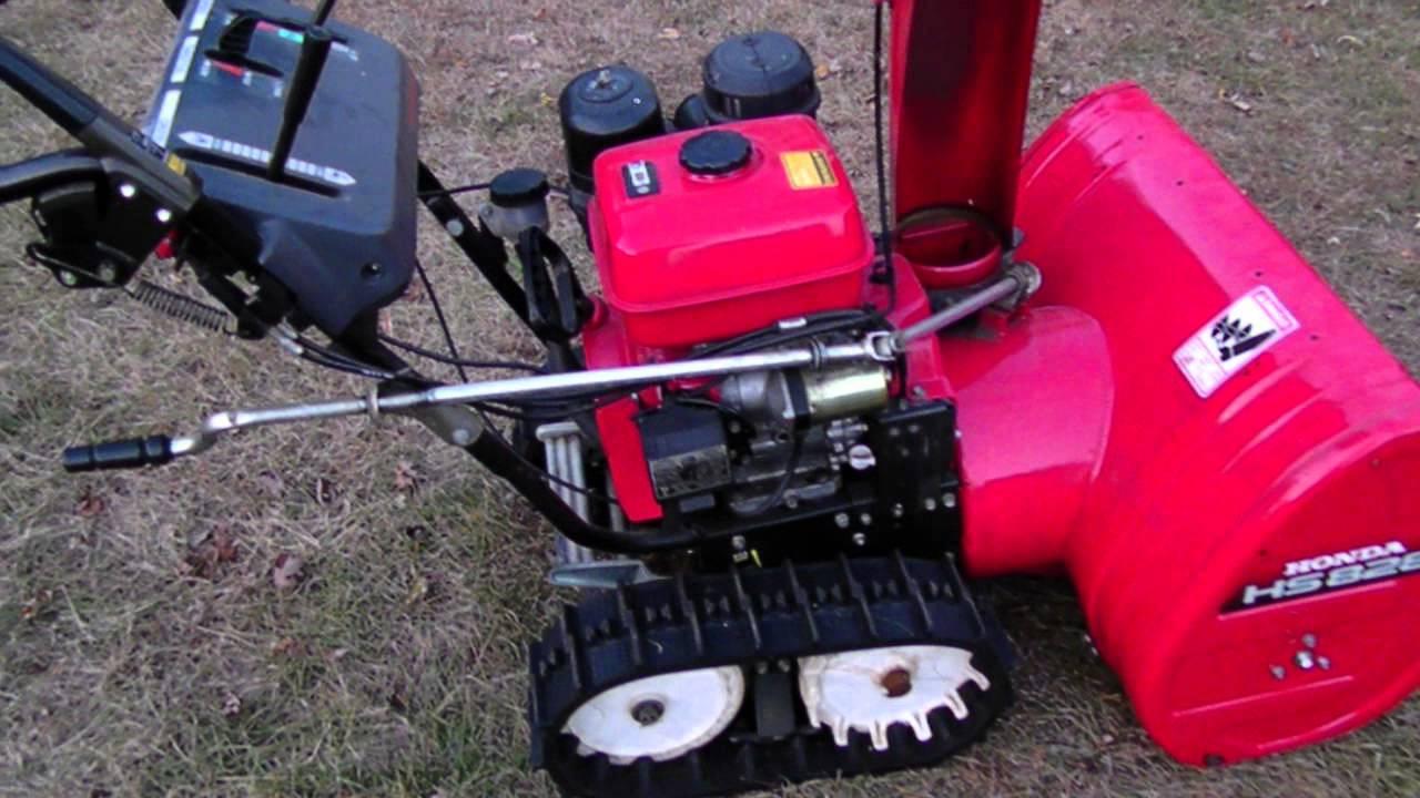 Honda HS828 Snowblower with Tracks (Walk Around & Test Start) HS828TAS