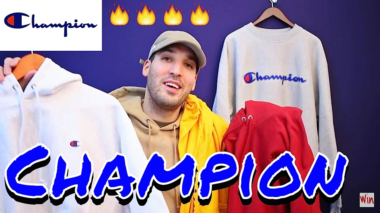 CHAMPION CLOTHING HAUL! AFFORDABLE HOODIES! 90 S BACK - YouTube 9c5ab2a665