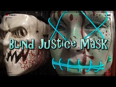 blind justice mask spirit halloween 2016 youtube - Purge Anarchy Masks For Halloween