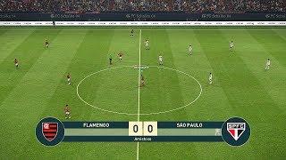 PES 2019 - FLAMENGO vs SÃO PAULO - TESTANDO A DEMO (Primeiras Impressões)
