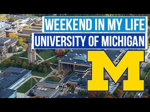 Weekend Exploring the University of Michigan