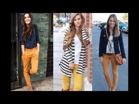 Cómo combinar un pantalón amarillo