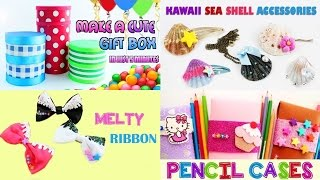 5 Gift Crafts Compilation - [Gift boxes, Pencil case, Bows, Gumball machine, Seashells]