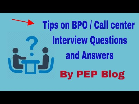 BPO   Call Center Interview Questions Answers and Tips