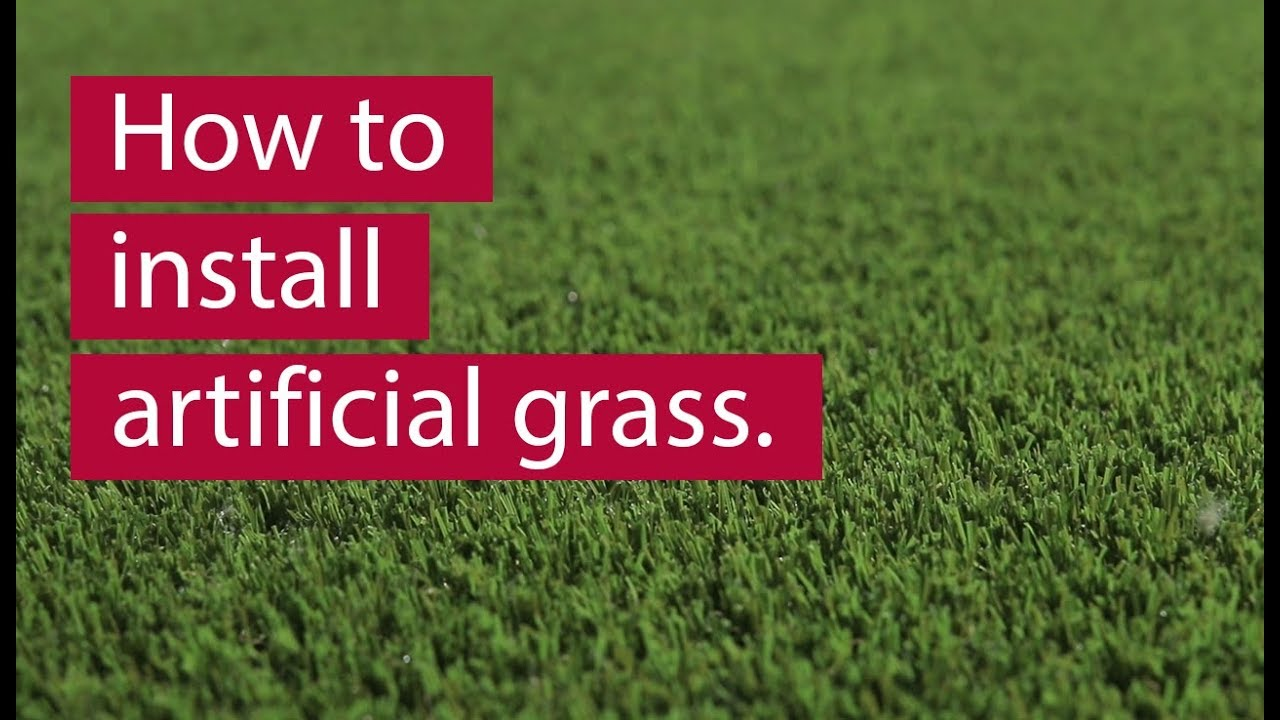 How To Install Artificial Grass 2019 Youtube