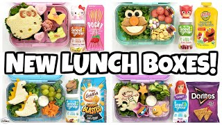 NEW LUNCH BOXES! + Fun Sandwiches 🍎 NO COOKING REQUIRED
