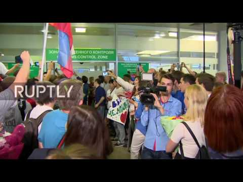 LIVE: Russian Olympic Team arrives back in Moscow