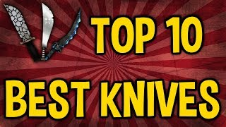 Top 10 BEST Knives in Roblox MMX