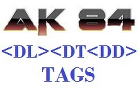 Html 5 Tutorial In Hindi 45 Dl Dt And Dd Tag