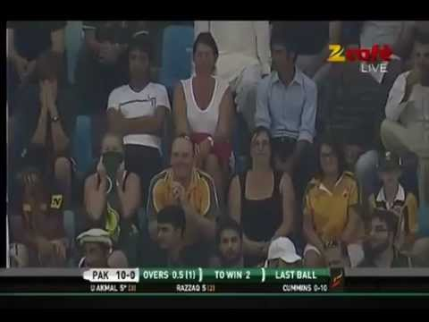 PAKISTAN VS AUSTRALIA T-20 MATCH SUPER OVER (7-SEP-2012)