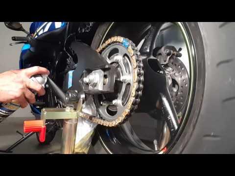 2015 Suzuki gsxr 750. Every 600 miles chain cleaning.