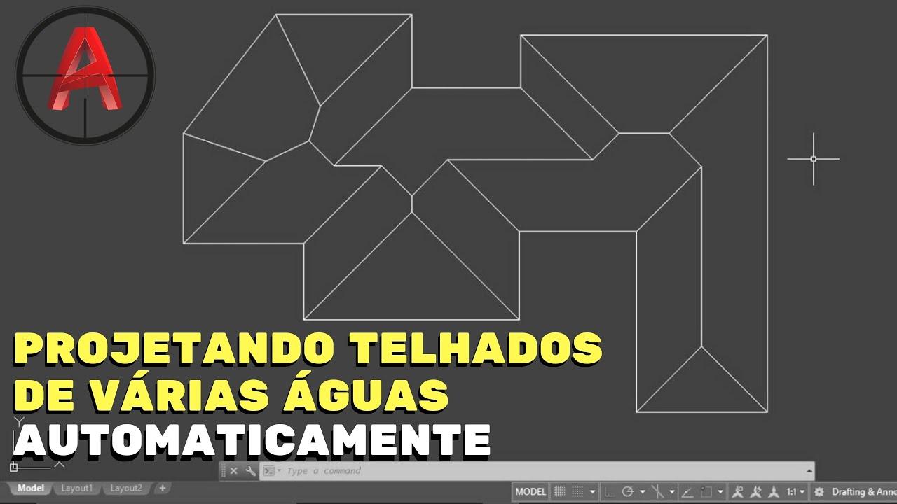 Desenhar Casas Autocad Projetando Telhado De V 193 Rias 193 Guas Youtube