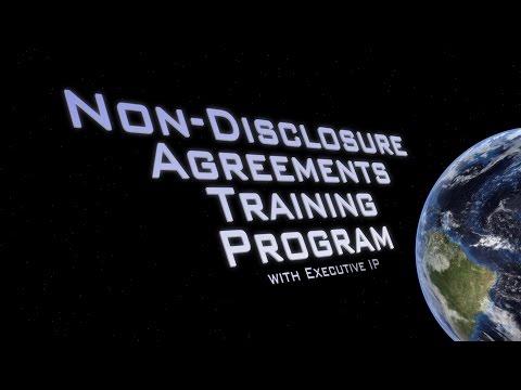 Non-Disclosure Agreements Training Program - Executive IP