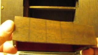 Vintage Japanese Musical Armoire Jewelry Box  Asahi