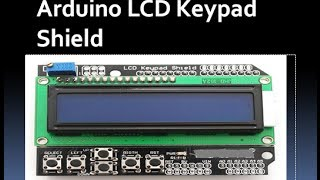 LCD SHIELD WITH KEYPAD FOR ARDUINO