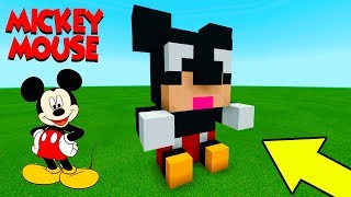 Minecraft: How To Make a Mickey Mouse Plush Statue