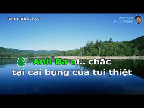 Banh Bong Lan - Karaoke Tân Cổ HD