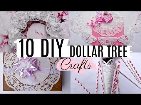 10 DIY DOLLAR TREE DOILY CRAFTS 🎁 WREATH, GARLAND, BOTTLE etc..