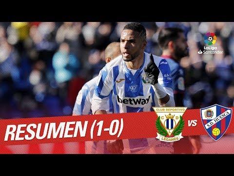Resumen de CD Leganés vs SD Huesca (1-0)
