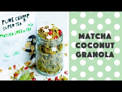Matcha Coconut Granola (Vegan & Gluten-free)