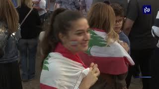 لبنانيون ينفذون وقفة أمام سفارة بلادهم في عمّان - (20-10-2019)