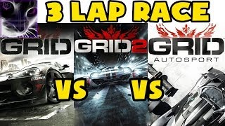 GRID vs GRID2 vs GRID Autosport in 3 Lap Race on Spa