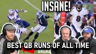 NFL Best QB Runs of All Time REACTION!! | OFFICE BLOKES REACT!!