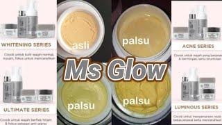Cara membedakan Cream|skincare MS GLOW ASLI vs PALSU