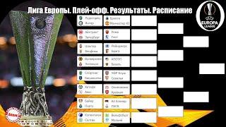 Лига Европы Результаты первых игр 1 16 плей офф Сетка расписание бомбардиры
