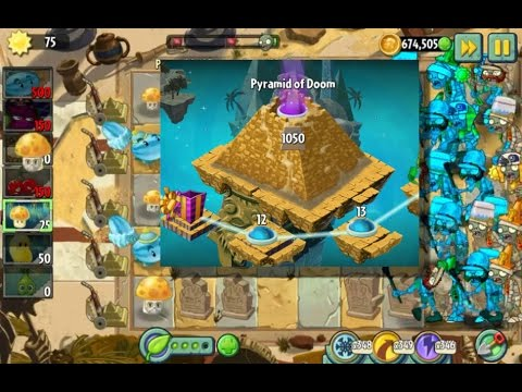 Plants Vs Zombies 2 - Endless - Pyramid Of Doom - 1050 Stage - Perfect Strategy