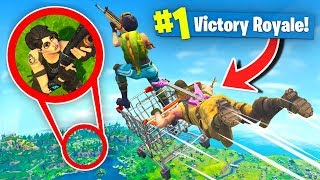 *MAX* Height SHOPPING CART Diving In Fortnite Battle Royale w/Dakotaz