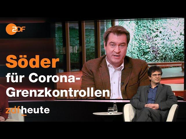 Markus Söder verteidigt Grenzkontrollen | Markus Lanz vom 11. Februar 2021