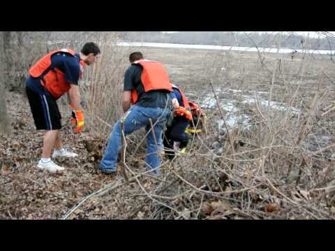 Heroes-Delran Fire Dept. rescue a lost husky that got stuckin the muck...