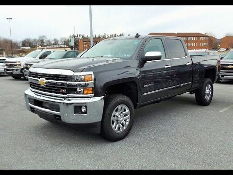 2015 chevy silverado 2500hd 6 6l duramax diesel z71 4x4 ltz crew cab start up tour and review. Black Bedroom Furniture Sets. Home Design Ideas