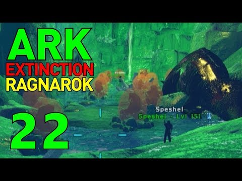 [22] Raiding Ice Caves, Temples, and Mazes! The Last Artifacts! (ARK Extinction Ragnarok Gameplay)