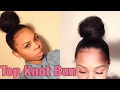 How To: Top Knot Bun | Natural Hair | CrySTYLE Beauty