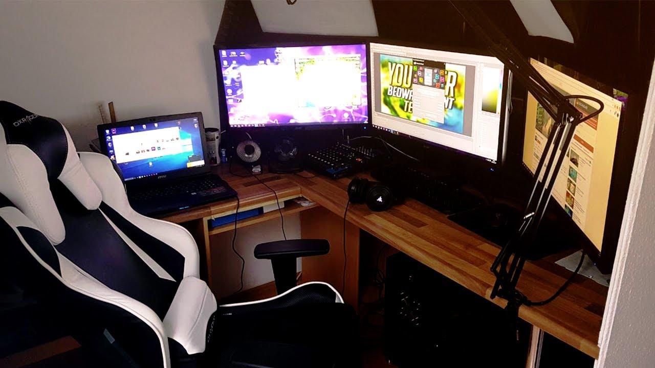 Mein gaming zimmer roomtour youtube for Mein zimmer planen