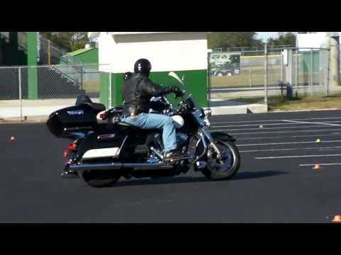 Motor Officer exercise ridden by a non-motor officer, this guy is good!