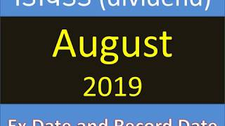डिविडेंड (dividend) August 2019  Ex Date and Record Date