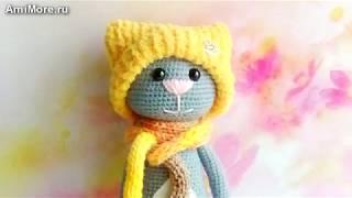 Амигуруми: схема Кот модник и Кошка. Игрушки вязанные крючком. Free crochet patterns.
