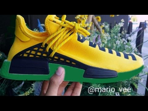 81d421cd8731 CUSTOMIZED PHARRELL x NMD HUMAN RACE SNEAKERS    - YouTube