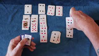 (ASMR) Playing solitaire with mini cards.