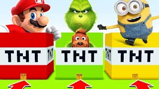 Minecraft :DO NOT CHOOSE THE WRONG TNT (MARIO,GRINCH,MINIONS)(Ps3/Xbox360/PS4/XboxOne/PE/MCPE)