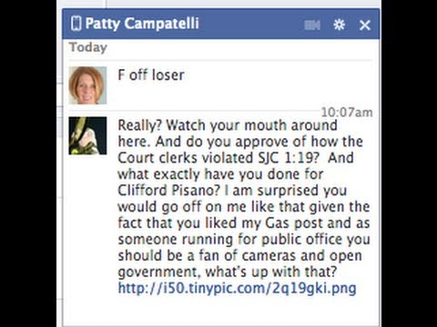 Suffolk MA Family & Probate Candidate Patty Campatelli Drops F-Bomb on Reporter.