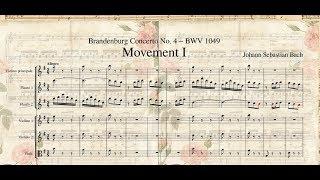 432 Hz. Johann Sebastian Bach. MIDI, Brandenburg Concerto No.4, BWV 1049. Mvt  I, Allegro.