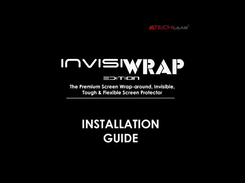 TECHGEAR InvisiWRAP Screen Protector Installation Guide For The Apple IPhone X